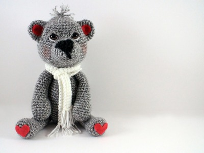 How to Crochet a Teddy Bear Left Handed Video 2