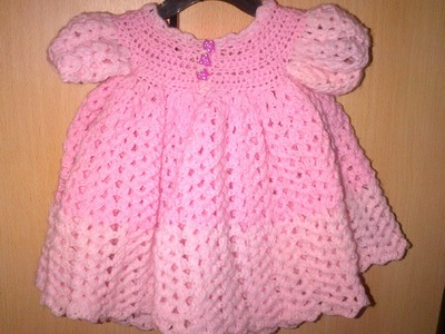 How to crochet baby dress video 2