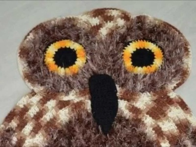 How to crochet owl rug free pattern