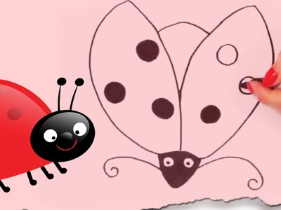 How to Draw a Ladybug by HooplaKidz Doodle | Drawing Tutorial