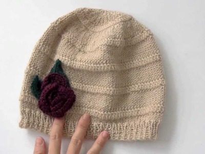 How to Knit a Hat on Crochet Flower