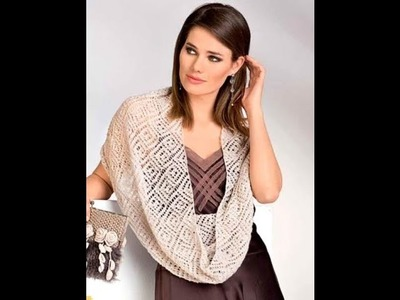 How to knit a lace cowl scarf free pattern tutorial