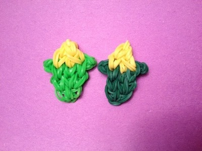 How to Make a Corn a Charm on the Rainbow Loom - Original Design