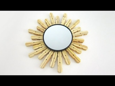 How to make a decorated mirror using clothespins (╯3╰) - EP