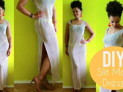 How To Make a Maxi Dress with a Split | DIY Clothes