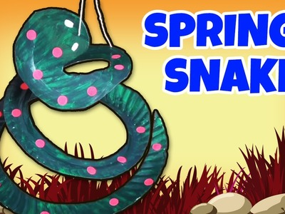 How to make a Springy Snake | Crafts Ideas for Kids | Easy DIY Craft Videos