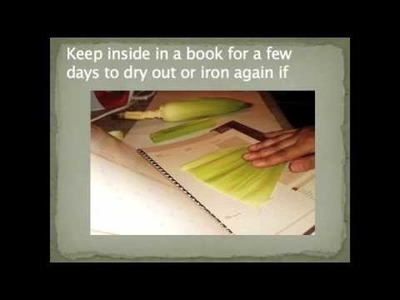 How To Make Corn Husk Impression ~ Air Dry Clay