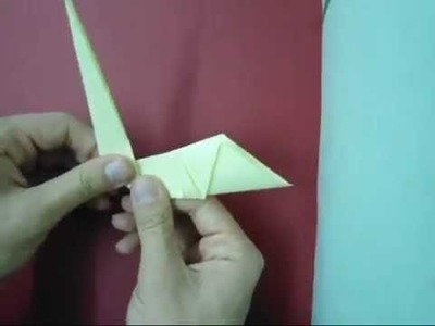 How to make easy origami peacock