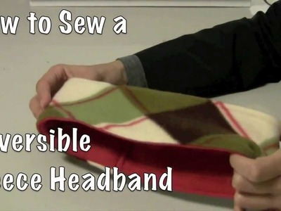 How to Sew a Reversible Fleece Headband DIY
