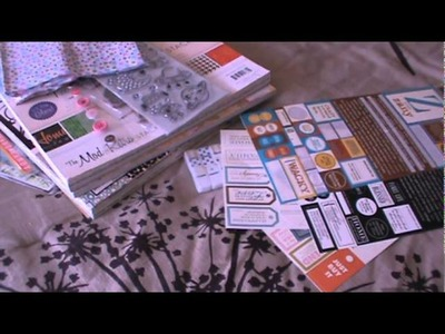 Joannes Scrapbooking Haul Michaels Target and some projects