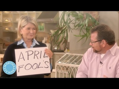 Martha's Prank on Warm Up Artiste, Joey Kola - April Fool's Day - Martha Stewart