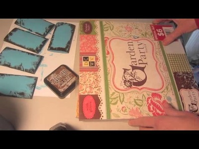 Mini Scrapbook Recycle Toilet Paper Rolls Pocket Book Step 3 Tutorial