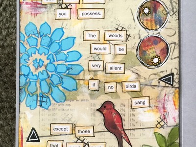 Mixed Media Art Journal Page from Scrapbook Paper
