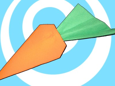 Napkins Origami Carrot Instructions