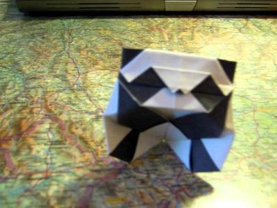 Origami simple Panda by Román Díaz