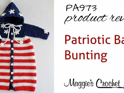 Patriotic Baby Bunting Crochet Pattern Product Review PA973