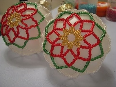 Poinsettia Beaded Ornament ~ Part 1 of 2