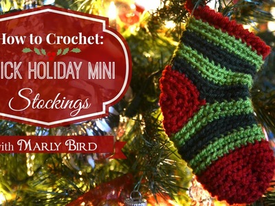 Quick Holiday Mini Stockings Free Crochet Pattern