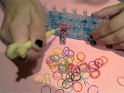 Rainbow Loom Bracelet Pattern! ASMR, soft spoken 3D.