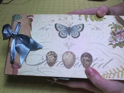 "Scrapbook Album: Completed ""Flora & Fauna"" Paper Bag Album"