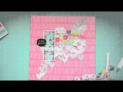 Scrapbooking Tutorial: Dear Lizzy Layering with stickers with Wilna Furstenberg