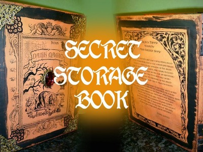 Secret Storage Book - Dark Magic - Book of Spells WOC