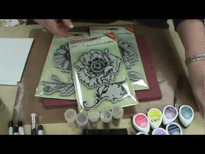 Stampendous Frantage Techniques with Glitters, Micas & Stamps by Scrapbooking Made Simple