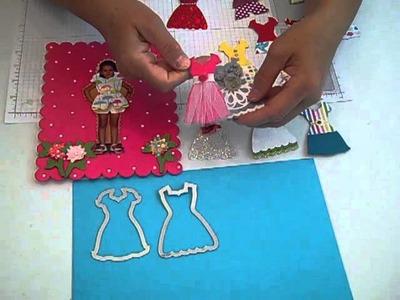 Stampin' UP! Dress Up Framelits - Magnetic Paper Doll Craft