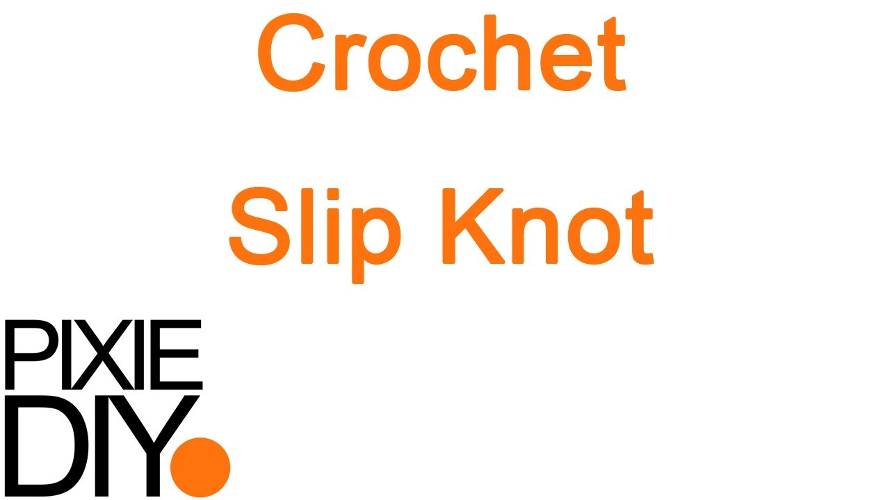 Step By Step How To Do a Slip Knot - Basic How To Crochet Tutorial For Beginners | Warm Pixie DIY