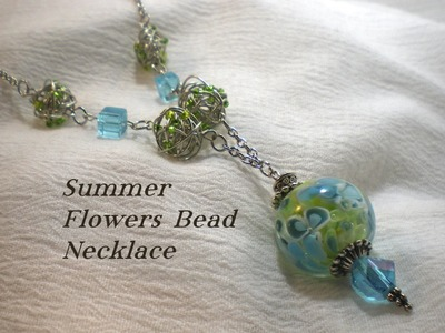 Summer Flowers Bead Necklace Video Tutorial