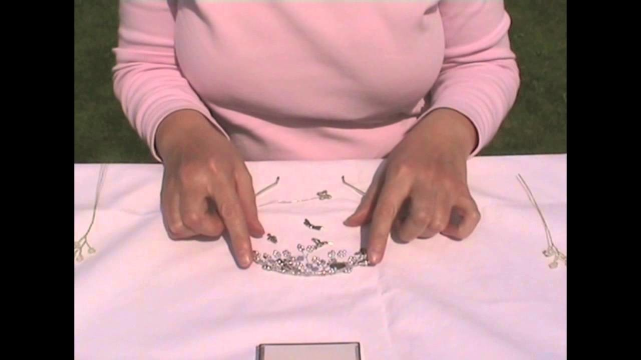 Tiara Making Tutorial; Completing a tiara with feature beads