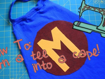 Turn a Tee into a Cape | No Sew, Upcycled DIY