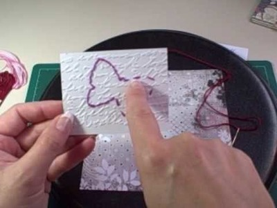 Tutorial - Using Sewing Templates on Scrapbook Pages & Cards