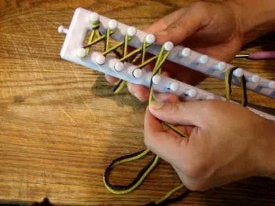 Twisted Knit Stitch - Loom Knitting Knifty Knitter