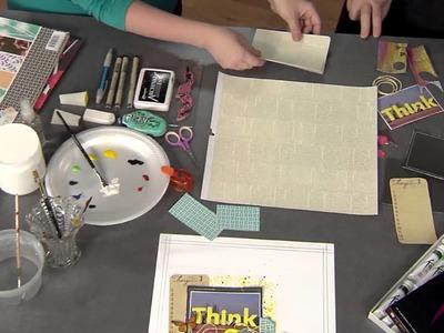 310-2 Ronda Palazzari changes patterned paper into unique embellishments on Scrapbook Soup
