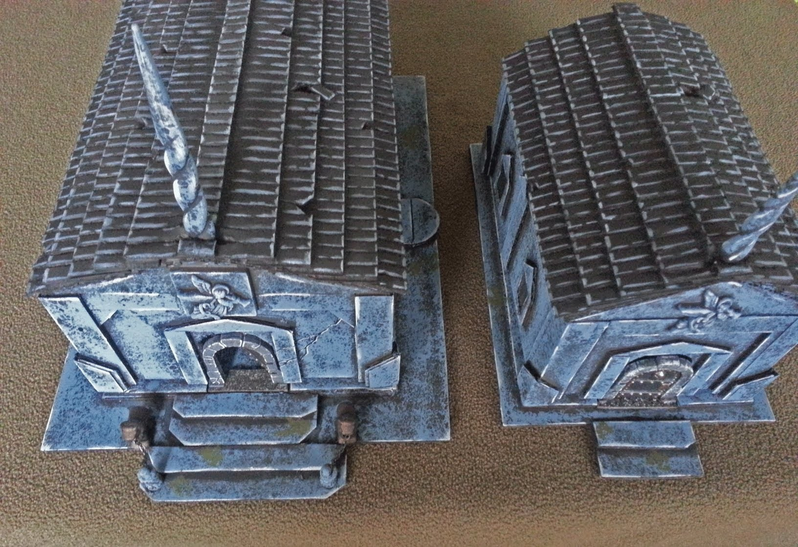 3D mausoleum combined with 2.5D tile for D&D (The DM's Craft, I show you my stuff #20)