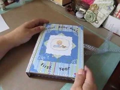 8 x 6 Baby Boy First Year Scrapbook Album