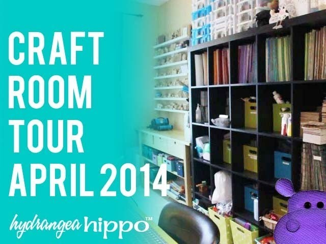 A Tour of My Scrapbook Room - Craft Room Tour - April 2014