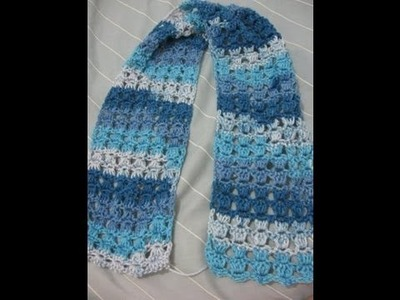 Angel Stitch Scarf - Left Handed Crochet Tutorial