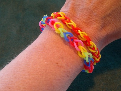 Beading4perfectionists : Loom with rubber bands #1. The basic beginners stitch