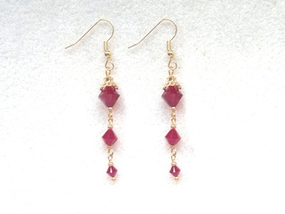 Beading4perfectionists : Very simple to make stylish Swarovski earring beginners tutorial