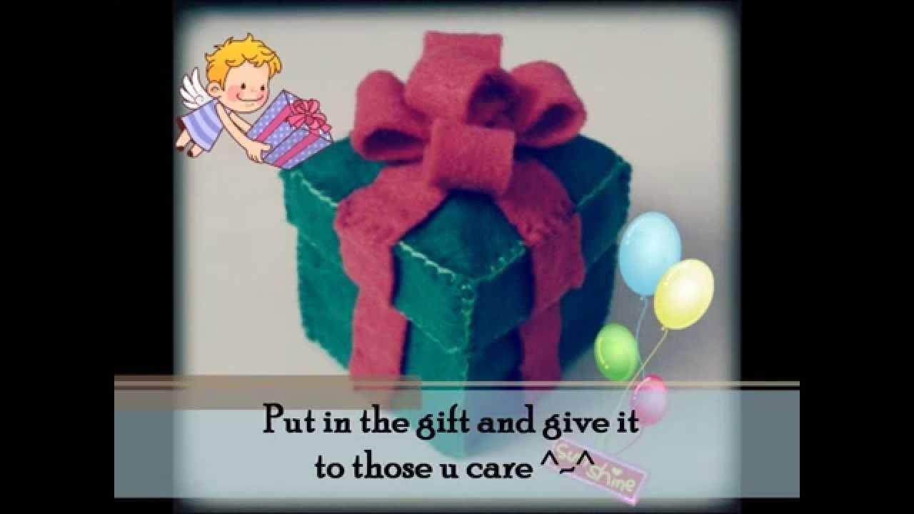 Christmas : How to make a Present Box Tutorial