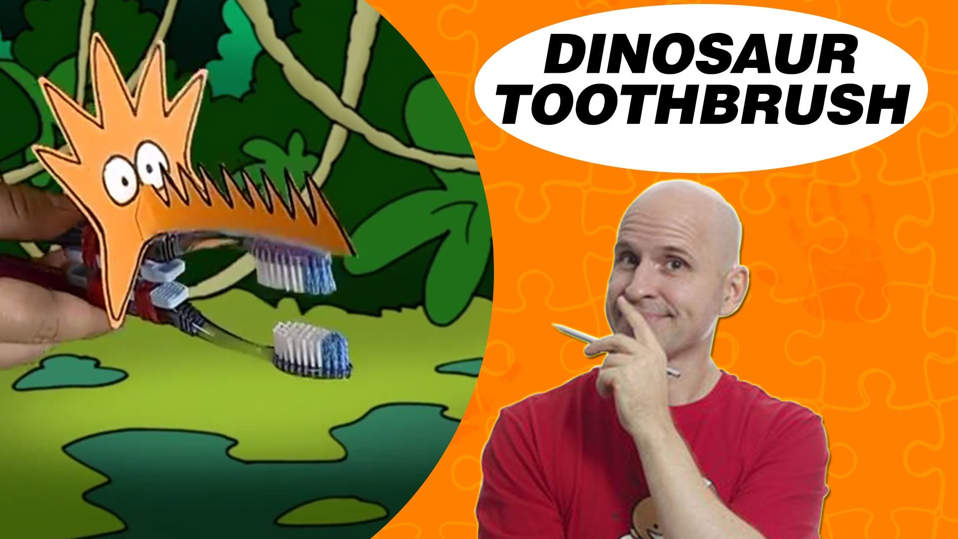 Crafts Ideas for Kids - Dinosaur Toothbrush | DIY on BoxYourSelf