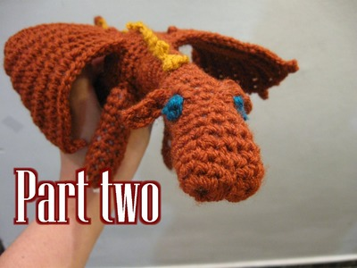 Crochet Amigurumi Fierce Dragon Tutorial pt 2