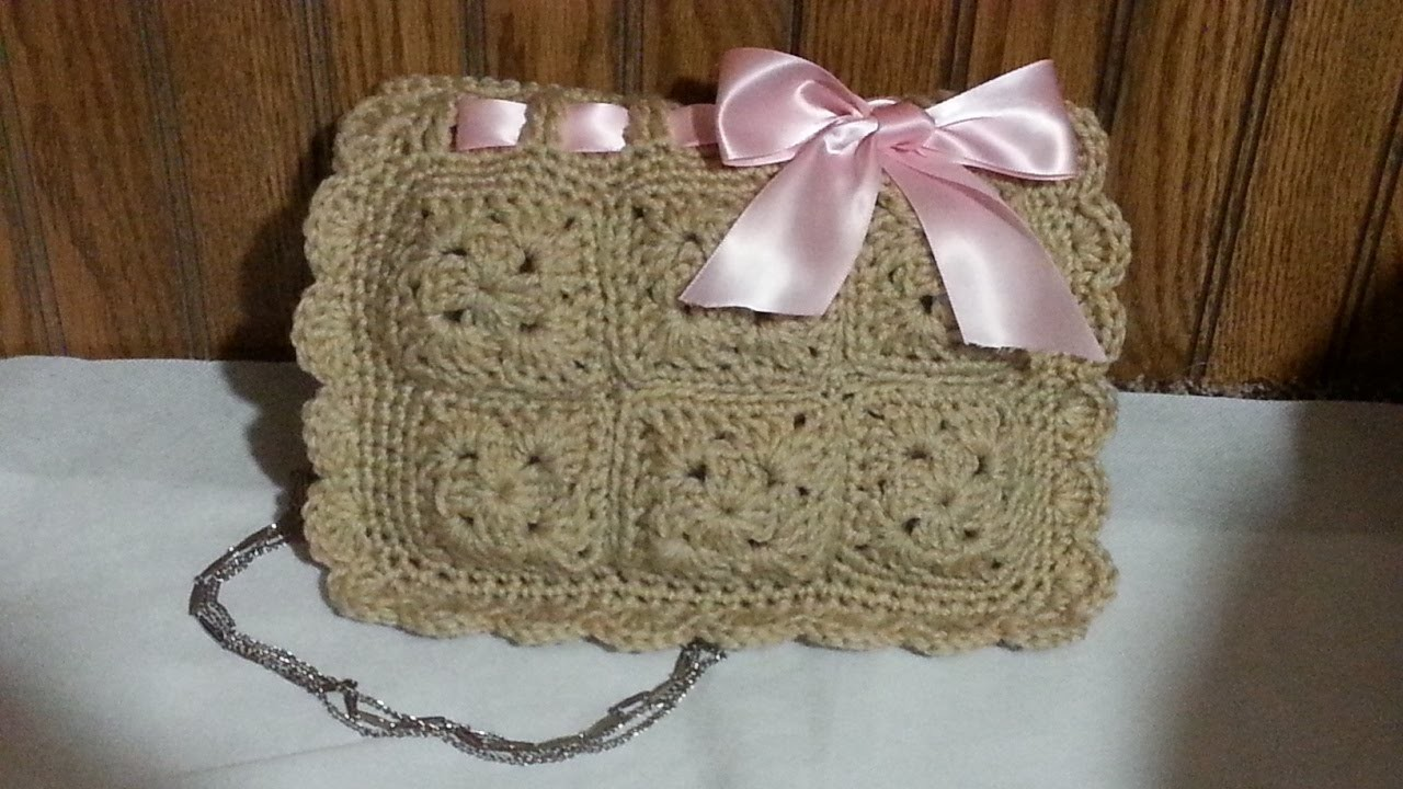 #Crochet Look a like Valentino Red Designer Clutch Handbag #TUTORIAL