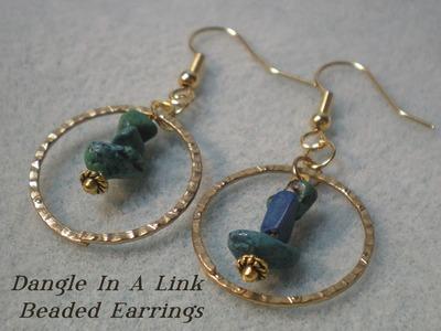 Dangle in a Hoop Beaded Earrings Tutorial