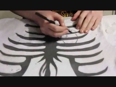 DIY Design A Shirt With Common Household Items! Ribcage Shirt!