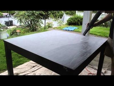 DIY Faux Barnwood Ikea Table