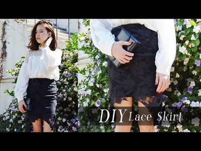 DIY Lace Cutout Skirt