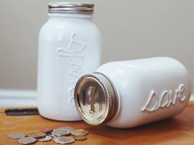 DIY MASON COIN JAR. PIGGY BANK